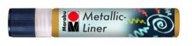 METALLIC LINER GOLD