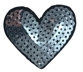 HEART ZILVER PATCH