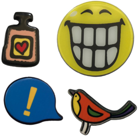 BIRD SMILEY  PIN SET