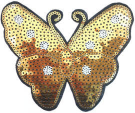 SCHMETTERLING GOLD PAILLETTEN PATCH
