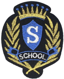 SCHOOL EMBLEEM PATCH