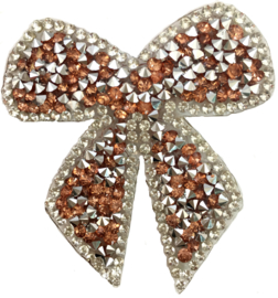 BRONZE FLIEGE STRASS PATCH