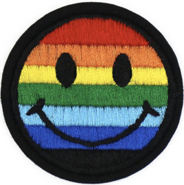 SMILEY REGENBOGEN PATCH