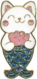 CAT MERMAID PIN
