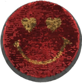 SMILEY RED GOLD REVERSIBLE XXL PATCH