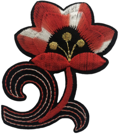 FLOWER RED WHITE PATCH