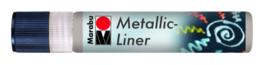 METALLIC LINER ZILVER