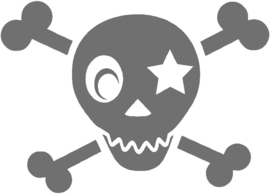 SKULL BOYS STRIJKAPPLICATIE
