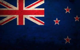 FLAG NEW ZEALAND IRON ON TRANSFER