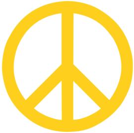 PEACE TEKEN STRIJKAPPLICATIE