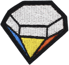 GEKLEURDE DIAMANT PATCH