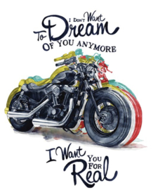 MOTORCYCLE DREAM QUOTE IRON ON TRANSFER