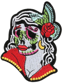PUNK ROCK SUGAR SKULL DAME PATCH