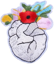 HEART FLOWERS PATCH