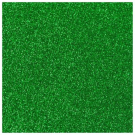 GRASS GREEN GLITTER HEAT TRANSFER VINYL A4