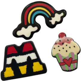 RAINBOW CUPCAKE PIN SET