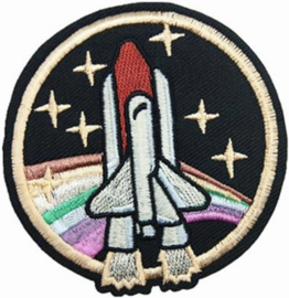 SPACE SHUTTLE REGENBOOG PATCH