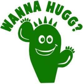 WANNA HUG STRIJKAPPLICATIE
