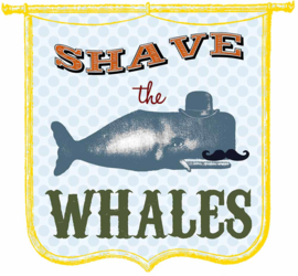 SHAVE THE WALVIS IRON ON TRANSFER