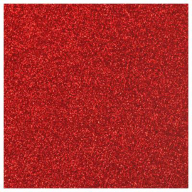 RED GLITTER FLEX HEAT TRANSFER VINYL A4