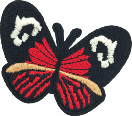 RED/BLACK BUTTERFLY M PATCH