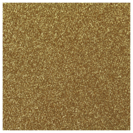 OLD GOLD GLITTER FLEX HEAT TRANSFER VINYL A4