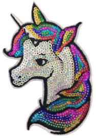 REGENBOOG UNICORN PAILLETTEN PATCH