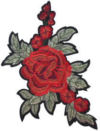 RED ROSE WITH LEAFS XXL PATCH