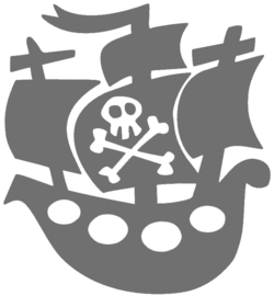 PIRATENSCHIP STRIJKAPPLICATIE