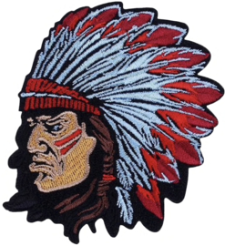 GREY RED INDIAN PATCH
