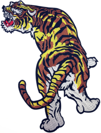 BROWN YELLOW TIGER PATCH