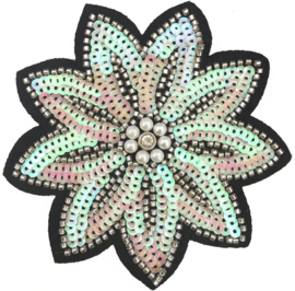 PEARL COLORED FLOWER PATCH