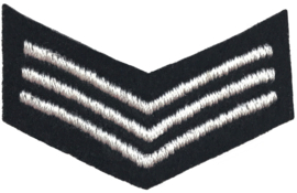 BLACK WHITE STREIFEN PATCH