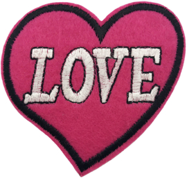 PINK HART LOVE PATCH