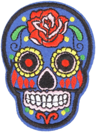 SKULL BLUE PATCH