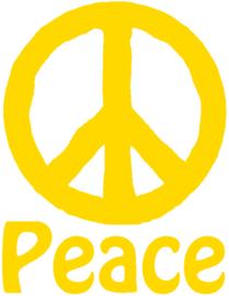 PEACE MET TEKST STRIJKAPPLICATIE