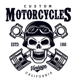 CUSTUM MOTORCYCLES IRON ON TRANSFER