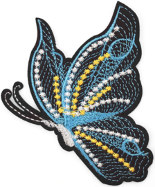 BLACK/BLUE/YELLOW BUTTERFLY PATCH