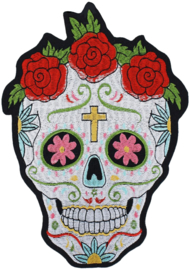 SUGAR ROSES SKULL XXL PATCH