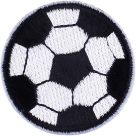 BLACK WHITE FOOTBALL PATCH