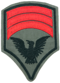 GREEN RED  ARMY PATCH
