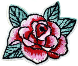 PINK RED FLOWER PATCH