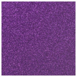 PURPLE GLITTER HEAT TRANSFER VINYL A4