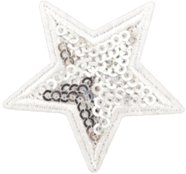 STAR SILVER WHITE PATCH