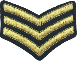 GOLD STRIPES EMBLEM PATCH