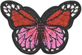 ROZE RODE  VLINDER M 2.0 PATCH