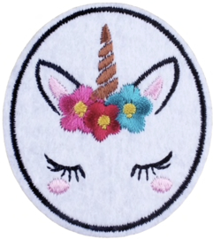 UNICORN IN ROUND FRAME PATCH