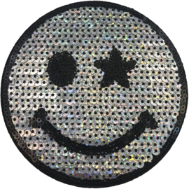 GLITTER SMILEY XL PATCH