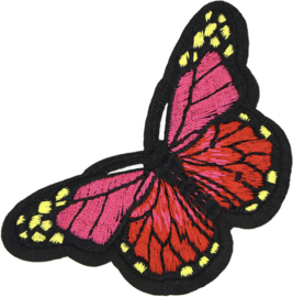 BUTTERFLY PINK RED PATCH