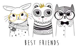 BEST FRIENDS IRON ON TRANSFER